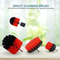 3Pcs Tile Grout Drill Brush Power Scrub Cleaning Tub Cleaner Attachment Kit Tool
