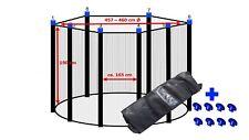 Trampolin Fangnetz Sicherheitsnetz Ersatznetz Netz 427 - 430 cm Ø für 8 Stangen