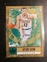 2018-19 NBA 🏀 Panini Court Kings - Jayson Tatum Jade ( mint condition) ☘