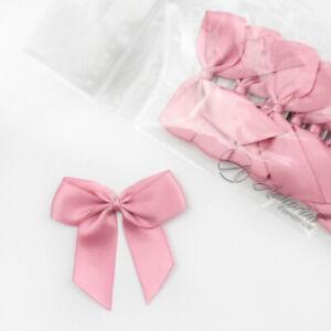 5cm Satin Bows Self Adhesive Antique Pink