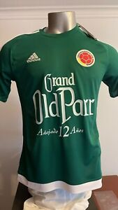 SELECCION COLOMBIA NATIONAL TEAM FCF GREEN TRAINING JERSEY ADIDAS MENS 2XL