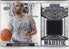 2013-14 CRUSADE MAJESTIC GAME-WORN SWATCH: TONY PARKER #9/99 SPURS 1/1 JERSEY #