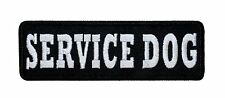 "4 Inch ""Service Dog"" Vest Harness Patch Smaller Black Stencil Iron On Applique"