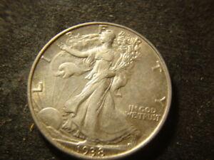 1938  XF AU  Walking Liberty Half Dollar Nice DZX