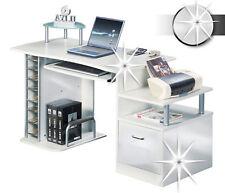 SixBros. Computerschreibtisch Schreibtisch hochglanz weiß - S-202A/732
