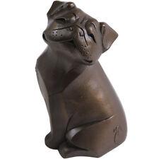Arora Cute Pug Dog Bronze Figurine | Pug Lover Ornament Gift FREE P&P