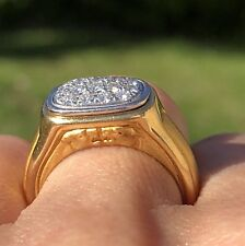 Carrera y Carrera 18K Yellow Gold Textured Mirrored Panther Sides Diamond Ring