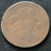 1805 Large Cent Draped Bust One Cent 1c Better Grade #22612