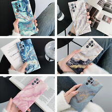 For Samsung Galaxy S20 FE Note20 Ultra A51 A71 Marble Case Soft Silicone Cover