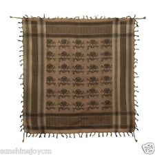 Skull & Crossbones Scarf Keffiyeh Desert Military Tactical Brown WHOLESALE LOT