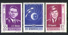 Romania 1962 Space Flight/Vostok/Astronauts/Rockets 3v set (n32524)