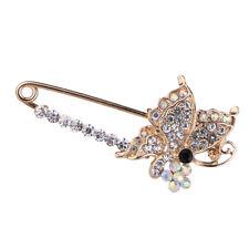Eleganter Schmetterling kristall Sicherheitsnadel Schal Mantel Kleid Clip