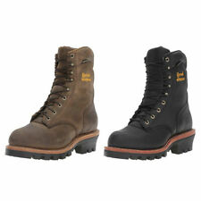 "Chippewa Boots  9"" Waterproof Insulated Steel-Toe EH Logger Bay Apache or Black"
