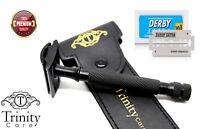 Heavy Duty Vintage Double Edge Safety Razor Set + Free 10 Blades
