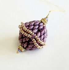 Superduo Beaded Bauble Jewellery Making Kit Full Instructions Lilac Purple