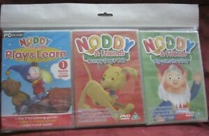 NODDY AND FRIENDS PAIR OF DVD's AND ONE CD ROM PLAY AND LEARN NEW