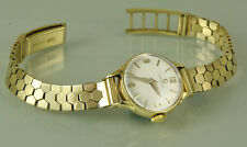 Luxury, 9k SOLID GOLD Omega ladies watch, 9k SOLID GOLD bracelet, Running well