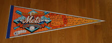 1969 New York Mets 25th Anniversary signature pennant World Series Miracle Mets