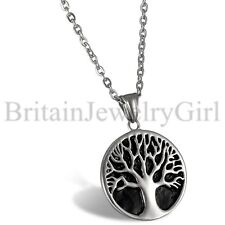 "22"" Mens Womens Vintage Celtic Tree of Life Stainless Steel Pendant Necklace"