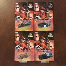 NEW Disney Pixar INCREDIBLES 2 Set 4 Diecast Cars Boosted Incredibile Tunneler