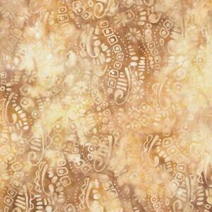 Timeless Treasures Fabrics Tonga Batiks Sumatra Blooms and Petals Toasted