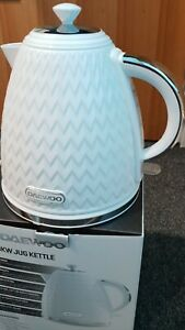 Daewoo 1.7L 3KW Argyle Collection White & Stainless Steel Jug Kettle 3000W
