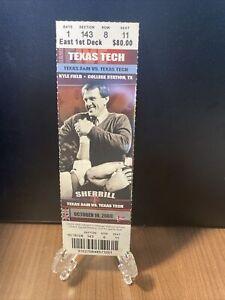 Texas A&M vs Texas Tech Ticket Unused Vintage Mint  Nov 818 2008 Kyle Field
