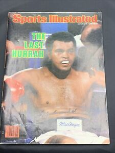 Muhammad Ali Signed Sports Illustrated 1980 - Cassius Clay - W/ COA