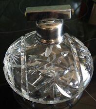 Antike Parfüm Zerstäuber Kristall Zerstäuber Handgeschliffen Glasflakon