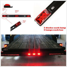DC12V Car Truck Trailer Exterior 9LED Red Clearance ID Light Bar Brake Tail Lamp