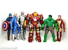 6 pcs/Lot Avengers:Age of Ultron Hulkbuster Iron Man Hulk Captain Action figures