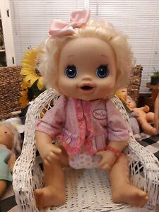 2010 BABY ALIVE DOLL HASBRO INTERACTIVE TALKS BIG BEAUTIFUL SLEEP EYES