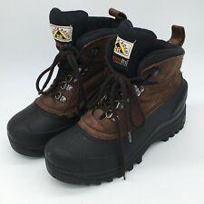 Black Rock BR Kids Boys Avalanche Thermolite Sz 6 Micro Suede Boots Shoe Rubber