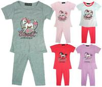 Girls Sweet Love Horse Summer T-Shirt Top & Leggings Fashion Set 2 to 8 Years