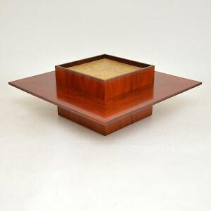 DANISH ROSEWOOD RETRO COFFEE TABLE BY MOBELINTARSIA VINTAGE 1960's