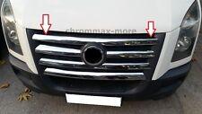Chrom VW Crafter  Kühlergrill Leisten 2007 > 2012  aus Edelstahl