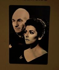 Star Trek 35MM Film Clip AV Slide STNG Picard and Troi Classic B&W Episode Clip