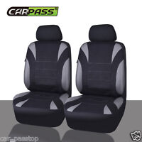 HOLDEN VE COMMODORE SS (06-12) WATERPROOF NEOPRENE GREY 2 FRONT CAR SEAT COVERS