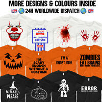 Halloween T Shirt Costume Pumpkin Lego Skeleton Blood Hands Tesco Value Ghost