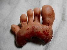 HORROR PROPS Silicone Foot HALLOWEEN Zombie DEAD BODY PARTS Freak Side shows FX