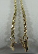 9in.L. Unisex. Sale-Save 500. #1416 10k Solid Gold Rope Bracelet/ Anklet