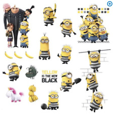 Despicable Me 3 Minions Wall 17 Decals Decor NEW NIP