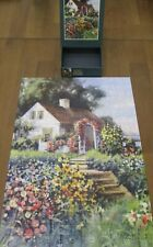 Lang 300 piece Jigsaw Puzzle - SEASIDE COTTAGE - Flowers Country Ocean - EUC