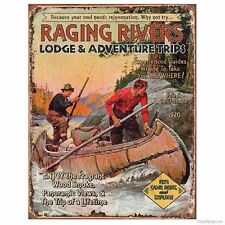 Publicités et réclames de matétiel de pêche ancien