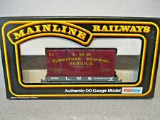 Mainline Railways OO Scale 37433 LMS Plank Wagon  FURNITURE CONTAINER excellent!