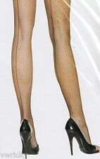 BLACK FISHNET Backseam Seam Seams Seamed TIGHTS High Quality