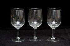 "Simple Classic Fine Clear  Crystal Wine Glass Stem lot set 3 7"""