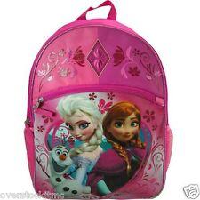 "Genuine Licensed Disney Frozen Olaf Elsa Anna 16"" School Pink Backpack"