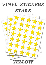 150 Yellow Stars Stickers - Self Adhesive Vinyl Labels size 38mm each