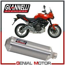 Terminale di Scarico Giannelli Maxi Oval Alluminio Kawasaki ER-6N 2005 > 2011